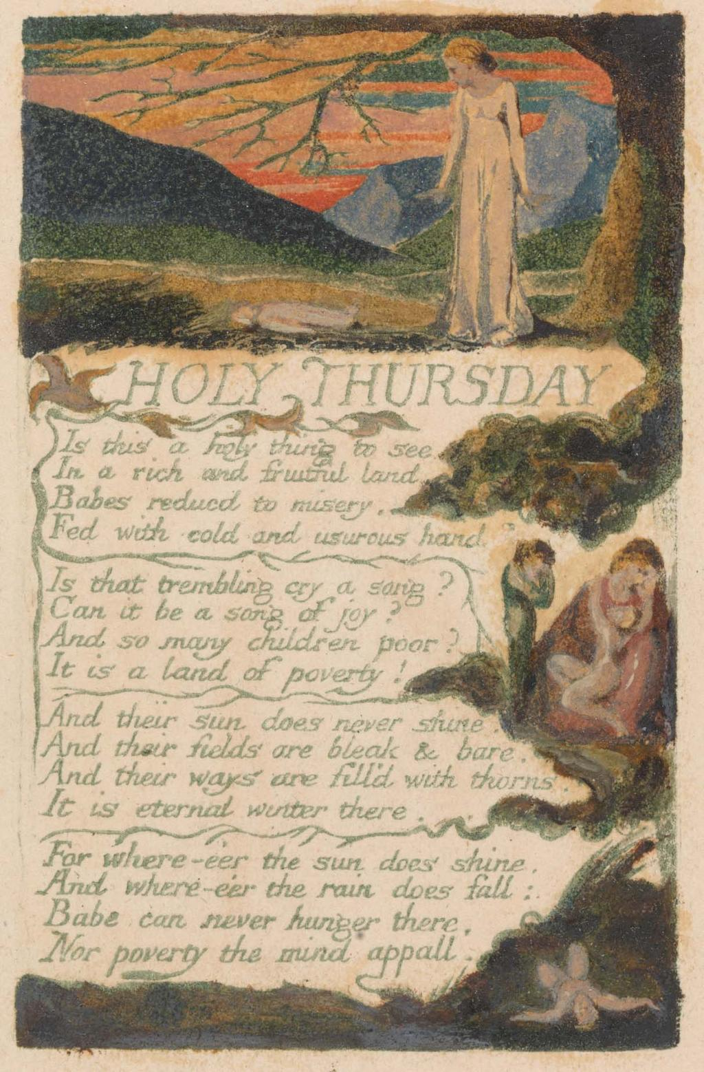 "Songs of Innocence and of Experience, Plate 38, ""Holy Thursday"" (Bentley 33), 1794"