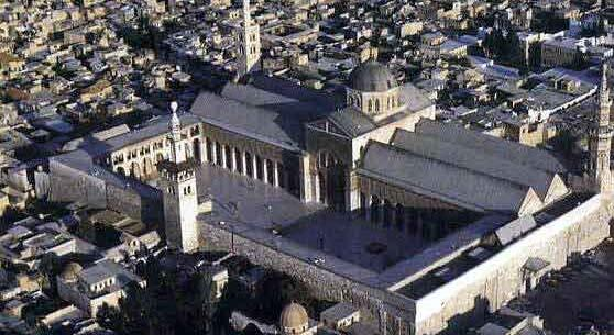 Great Mosque of Damascus: 709-715 Syria Islam s oldest congregational mosque Existing Hellenistic buildings were used in the plan Included a prayer hall, courtyard and rooms for visiting pilgrims