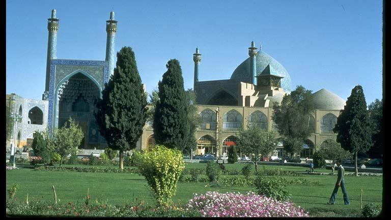 Masjid-i-Shad: 1612-37 Iran General view of the Mosque showing the portal with its two minarets echoed