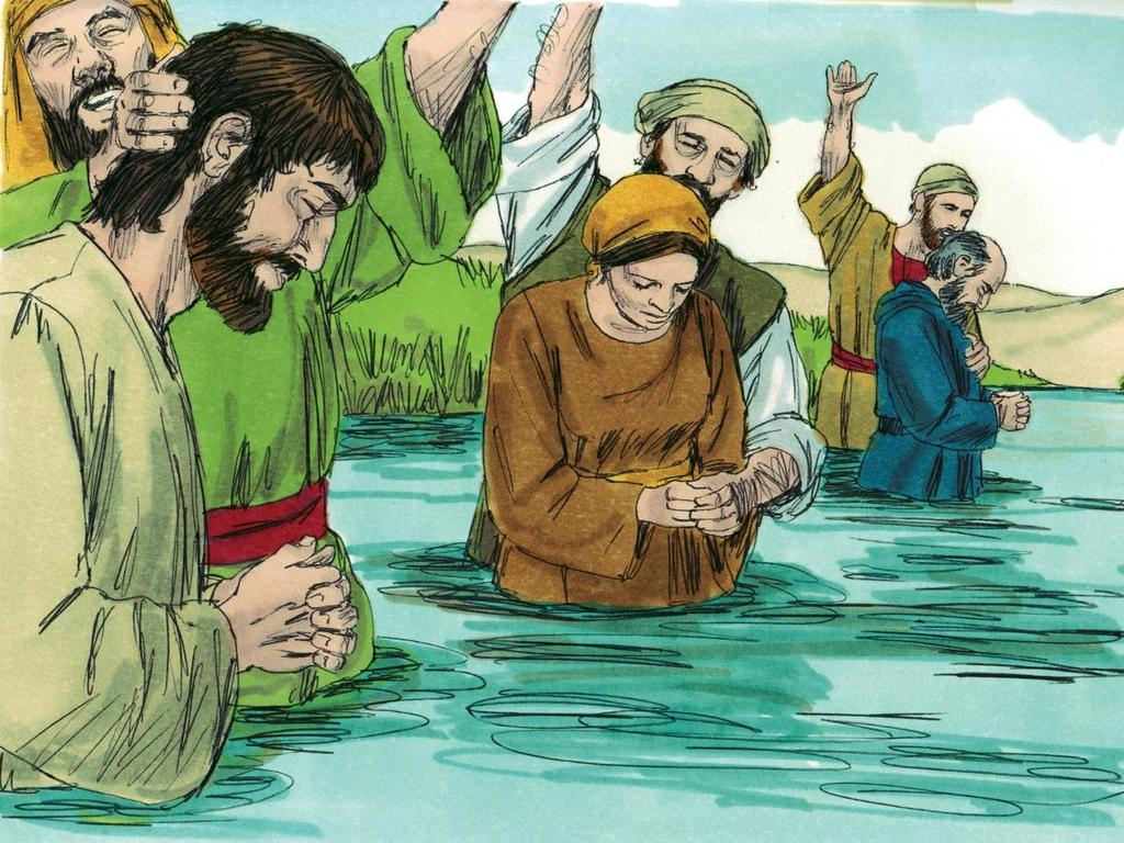 4. When people heard about Jesus many of them said they wanted to follow him.
