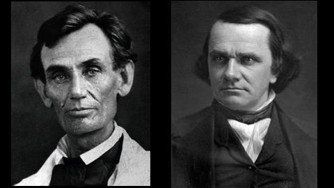 In the 1858 race for U.S. Senate in Illinois, Democrat Stephen A. Douglas was seeking reelection to a third term. He was opposed by a relative newcomer, Abraham Lincoln.