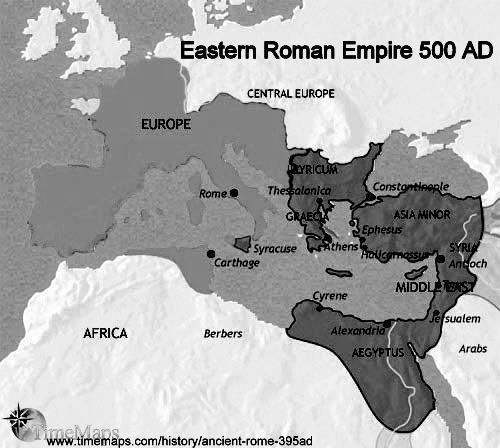", the ""civilized"" areas of Europe and the Near East were dominated, ruled, and imprinted with a lasting influence from the Roman Empire."