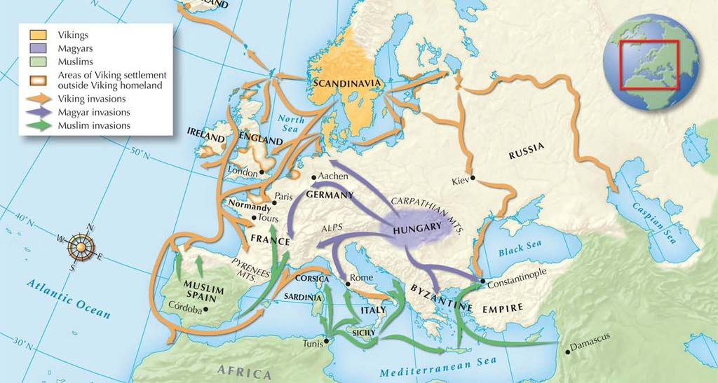Section 1 After Charlemagne died, his empire was split up.