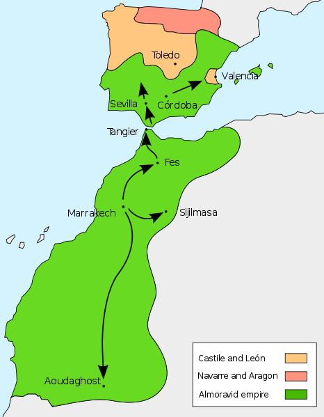 Almoravid Empire The Almoravids grew into a powerful fighting force They conquered across the Sahara Desert and swept up into Spain Their religious zeal and powerful military helped