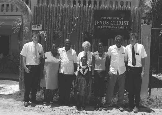 Members and missionaries of the San Pedro Branch, Belize City Belize District, gather for conference. in store for them.
