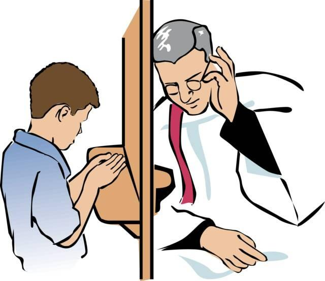 Enter the Confessional How to Go to Confession Choose one: Kneel in front of the screen or go around and have a seat and speak to Father face-to-face After the Priest greets you, you begin: + In the