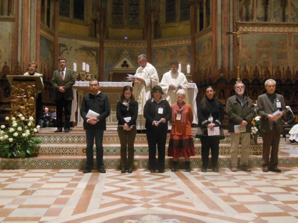 L-R, at ambo, Chelito Nunez, Tibor Kauser, in front of altar - Michel Janian, Ana Fruk,