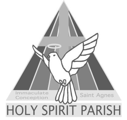 HOLY SPIRIT PARISH 1 st Sunday of Lent February 18 th, 2018 Immaculate Conception Church 310 West Water Street Lock Haven, PA 17745 Saint Agnes Church 3 East Walnut Street Lock Haven, PA 17745 PARISH