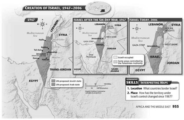 Conflicts with Israel 1948, Israel established; since then most Middle Eastern countries have refused to recognize its right to exist Some countries have repeatedly attacked Israel, funded militant