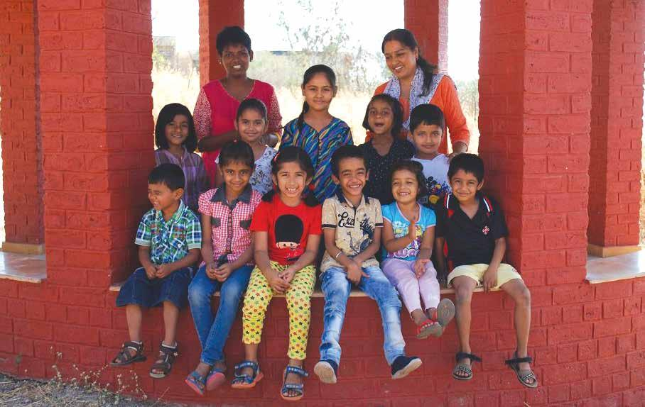 Preschool Row 1: Menaka akka, Raina akka Row 2: Amudha, Shreya,