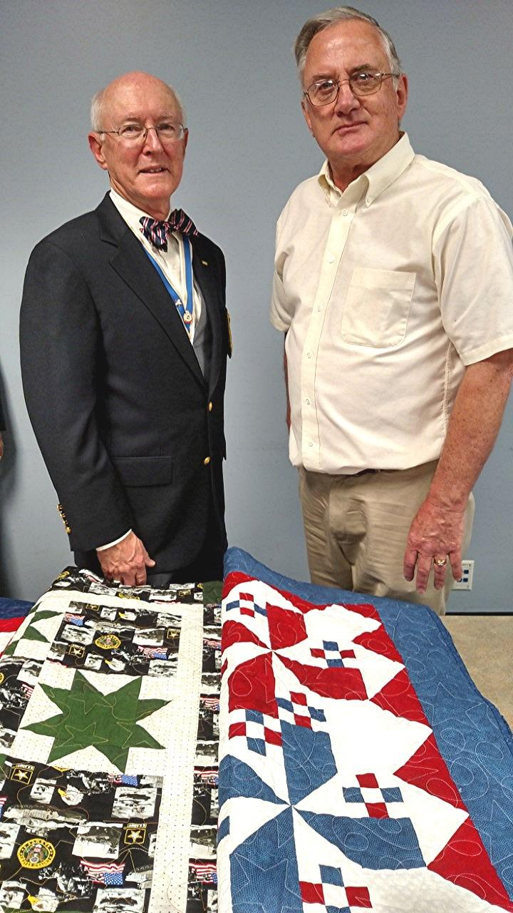 College (OTC) in Springfield, Missouri. The quilts were personalized with a message and presented to each veteran.