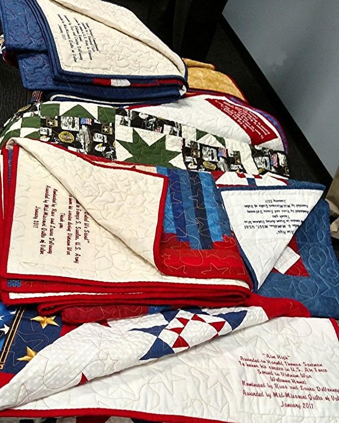 To date, the ladies have made many, many hand-made quilts. Laura alone has completed 19 quilts.