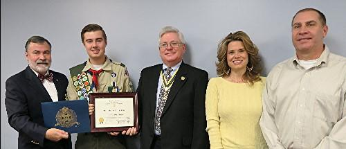 Eagle Scout Haas is a member of Troop 42 Boy Scouts of America in Lee s Summit, Missouri.