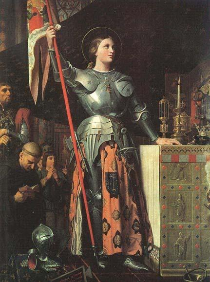 Joan of Arc: French peasant girl who heard voices urging her to get involved in the struggle.