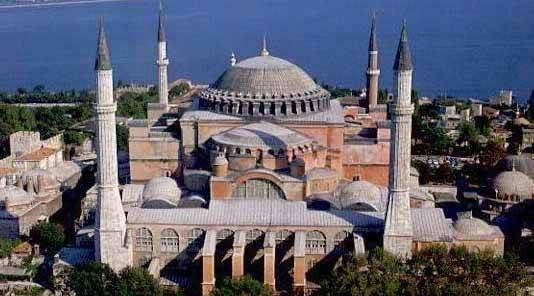 Church of Hagia Sophia [Holy Wisdom] Two institutions were central to their culture: The Emperor A Priest-King deputy of Jesus Christ Emperor Justinian tried to restore Roman traditions Emperor