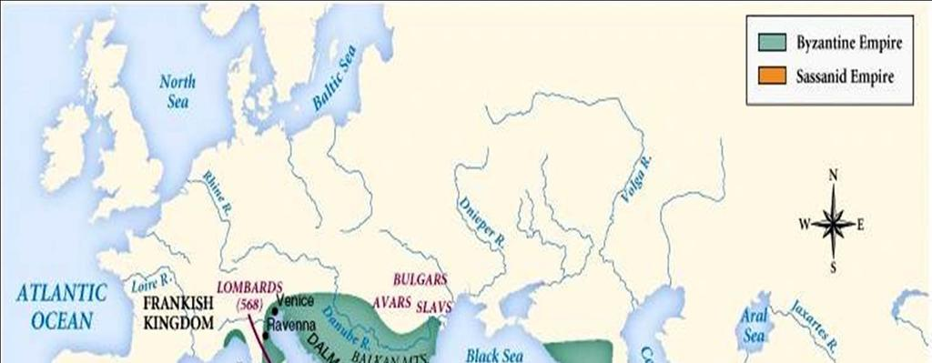 Byzantine & Sassanid Empires, 6 c The Byzantine Empire not only