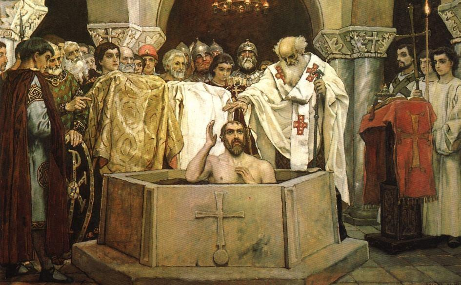 Vladimir I of Kiev was baptized Christian 988