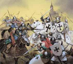 Saint Alexander Nevsky Teutonic Knights wanted to convert Russians from Greek Orthodox to Roman Catholicism 1242-Alexander trapped the Knights onto thinning ice The ice cracked and men and horses