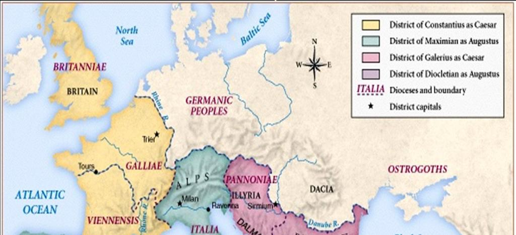 1. The Byzantine Empire The Roman Empire Divided in 294 The
