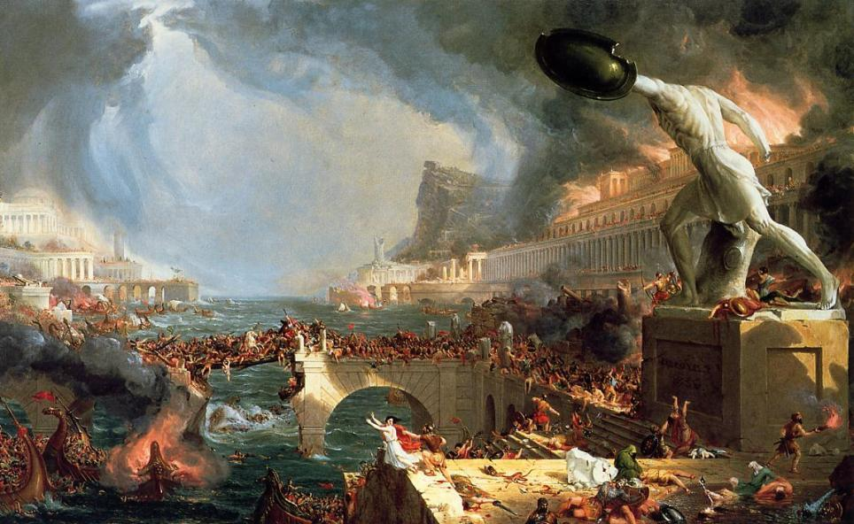 The Fall of the Roman Empire The weak Western Roman Army could do little to stop the