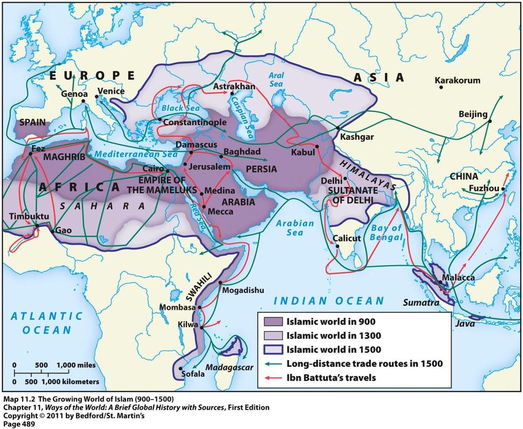 Even after the Arab Empire fell apart, the Islamic civilization continued to