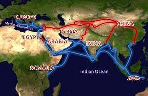 The Golden Age 750-1350 Muslim merchants create vast trade network; Silk Road Spreads products, technologies, knowledge, religions,