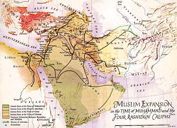 Building a Muslim Empire Early challenges; Muhammad dies without a successor Abu Bakr