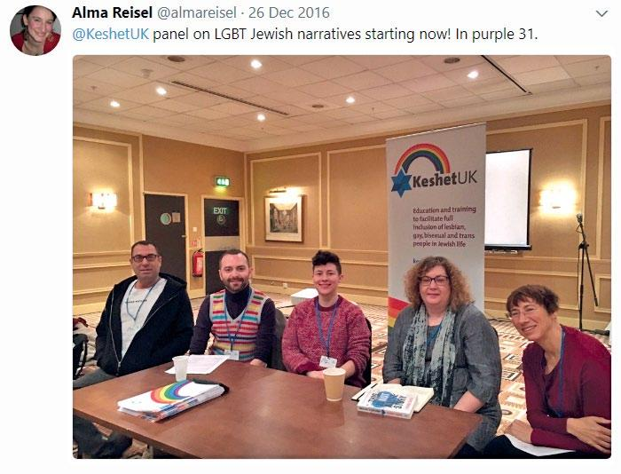 In 2016/17, KeshetUK has facilitated workshops for Jewish people based in mainland Europe, such as: Delivering a sponsored LGBT+ inclusion training workshop to 11 Jewish community leaders in