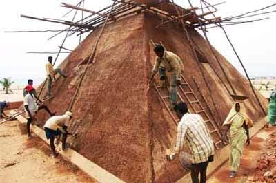 Plastering the pyramid