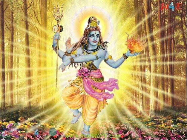 Lord Shiva dance The left foot raised toward the teaching hand represents release.