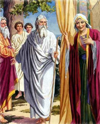 Three wise men visited Abraham and told him