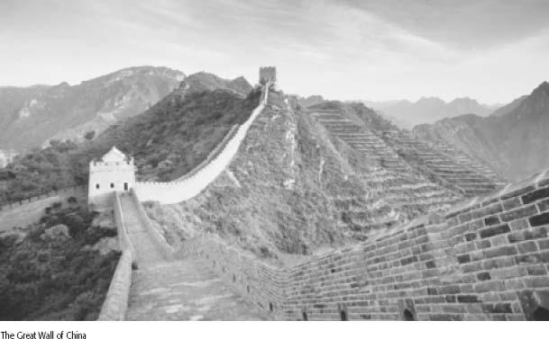World Civilizations Quarter 1 Module Exercise #15 Great Wall of China Throughout its history, China tried to protect itself from invaders. As early as the sixth century B.C., the Chinese built earth walls as a defense against invading nomads from the north.