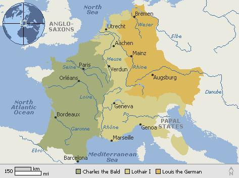 Results The dissolution of the Frankish kingdom ended any hopes of a unified Europe for now.
