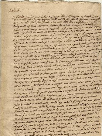 William Bradford Letter to John Winthrop 11 April 1638 This 1638 letter from Gov. William Bradford of Plymouth Colony to Gov.