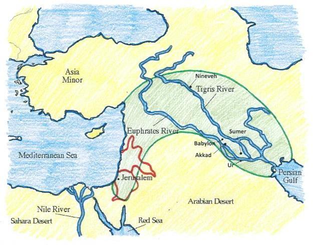 The Fertile Crescent Black Sea Caspian Sea DIRECTIONS: Use the maps located on pages 33 59 to complete 1-7 below. 1. Create a compass rose for your map above that includes the 4 cardinal directions.