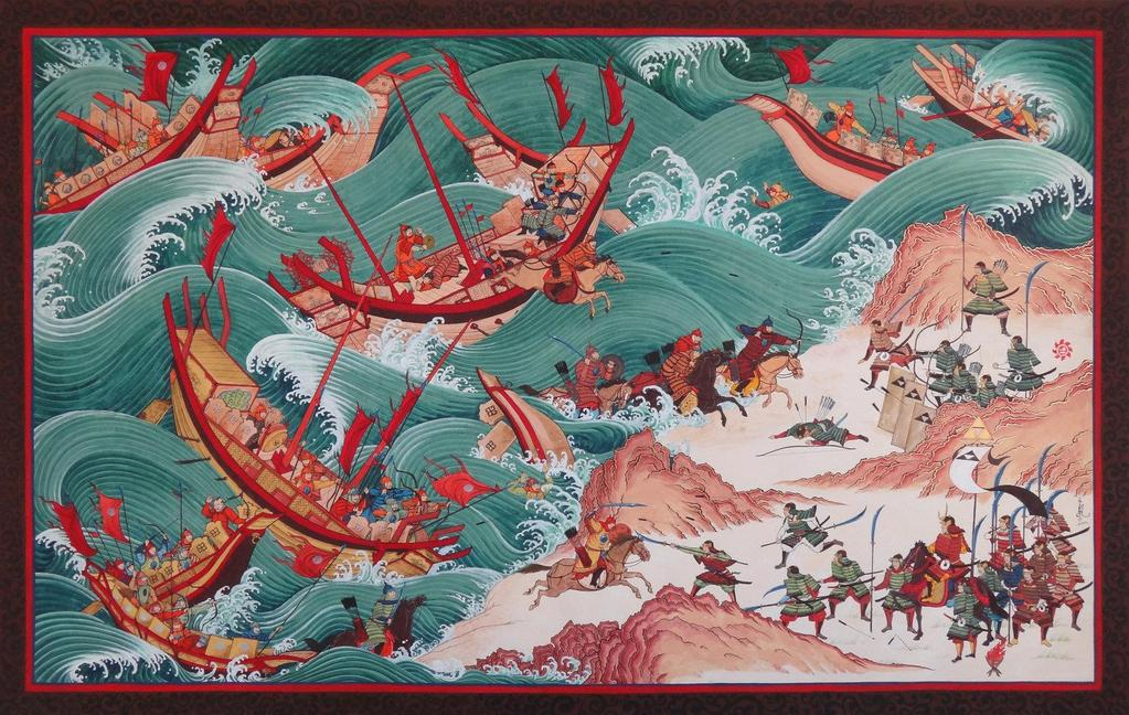 Fall of the Yuan Dynasty & Rise of the Ming Dynasty Kamikaze ( divine winds ) destroy the Mongolian navy After the failed invasion of