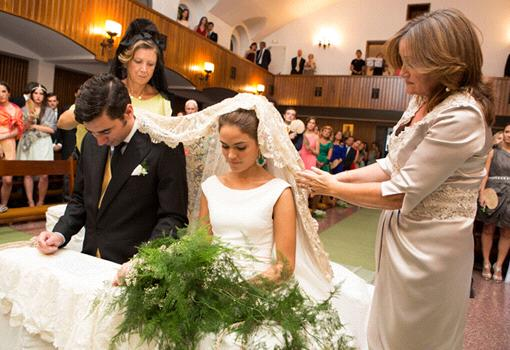 From Nuptial Blessing A Send down on them the grace of the Holy Spirit and pour