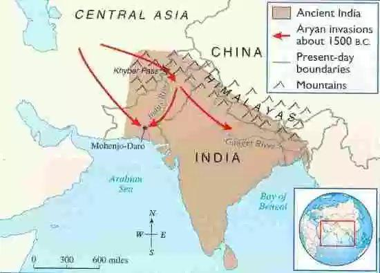 Aryan Civilization The Aryans originated from the area north of the