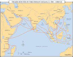 Indian Ocean Trade seasonal nature of the monsoon winds forced long stays by sailors in their various ports of