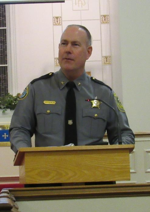 Dwayne Embert shared their Church Watch program with us and other community churches last month. Sheriff Hoffman and Lt.