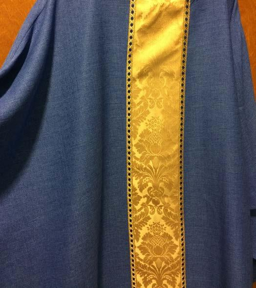 Purple or Blue are both Liturgically