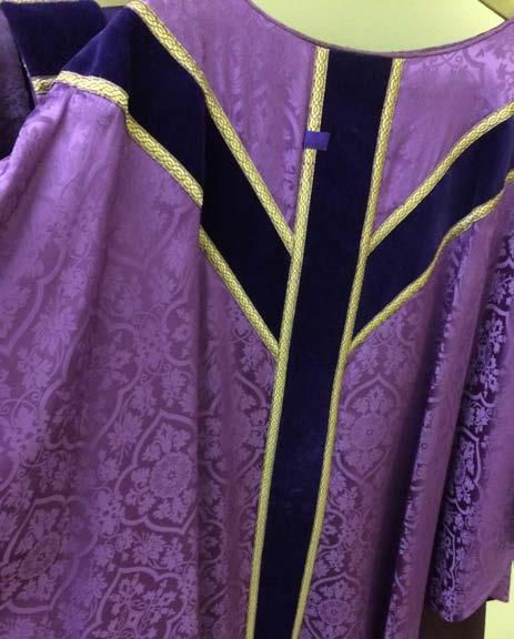 vestments and paraments for the Feasts of