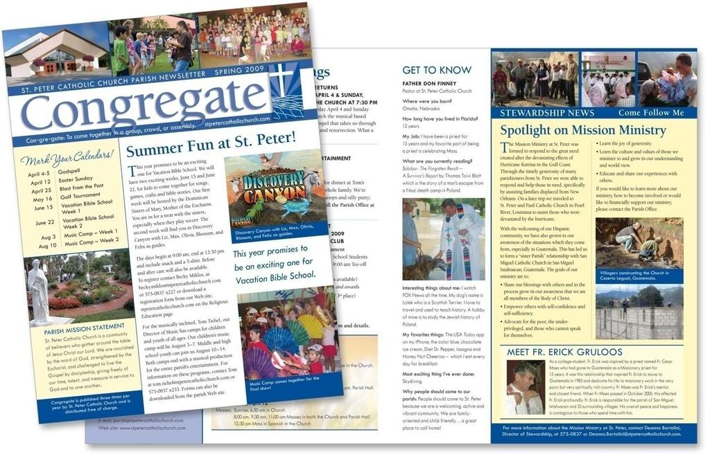 Resource Inform! is a newsletter design, print and mailing service that makes it easy to stay in touch with parishioners.