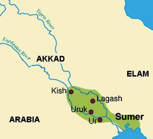 The City-States of Ancient Mesopotamia By 3000 B.C. the Sumerians had formed a number of city-states centered around cities such as Ur and Uruk.