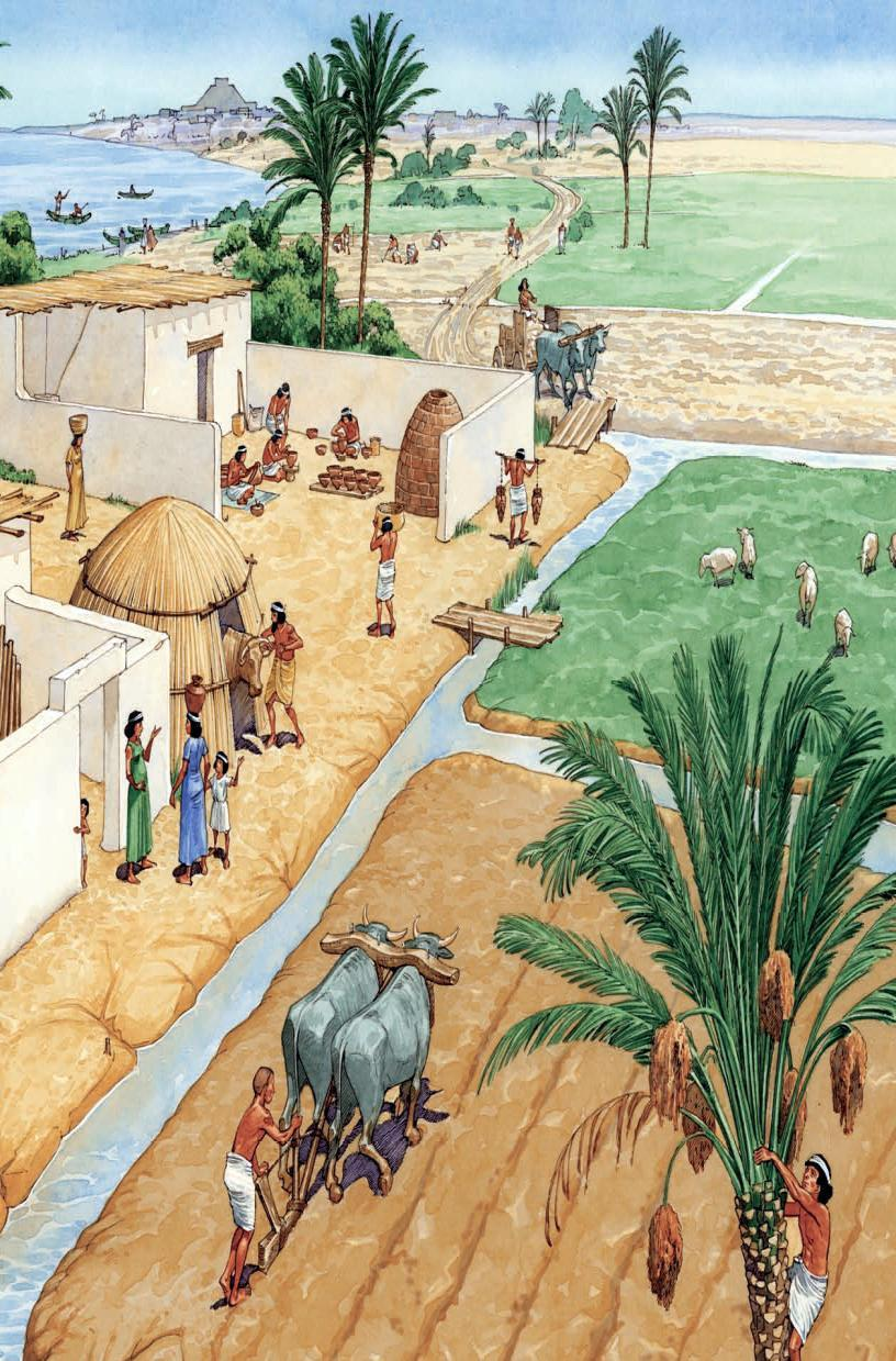 The Fertile Crescent People in Mesopotamia controlled flooding by creating irrigation and