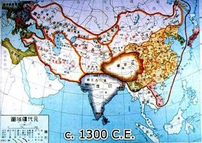 This map shows the Mongol Khanates.