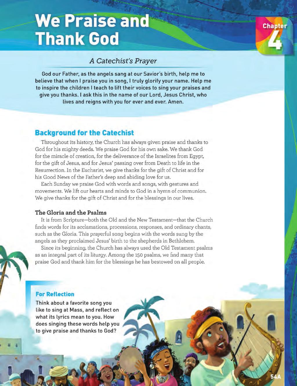 Grade 2 Catechist Guide Background Page CATECHIST BACKGROUND 17 The Catechist Background page provides background