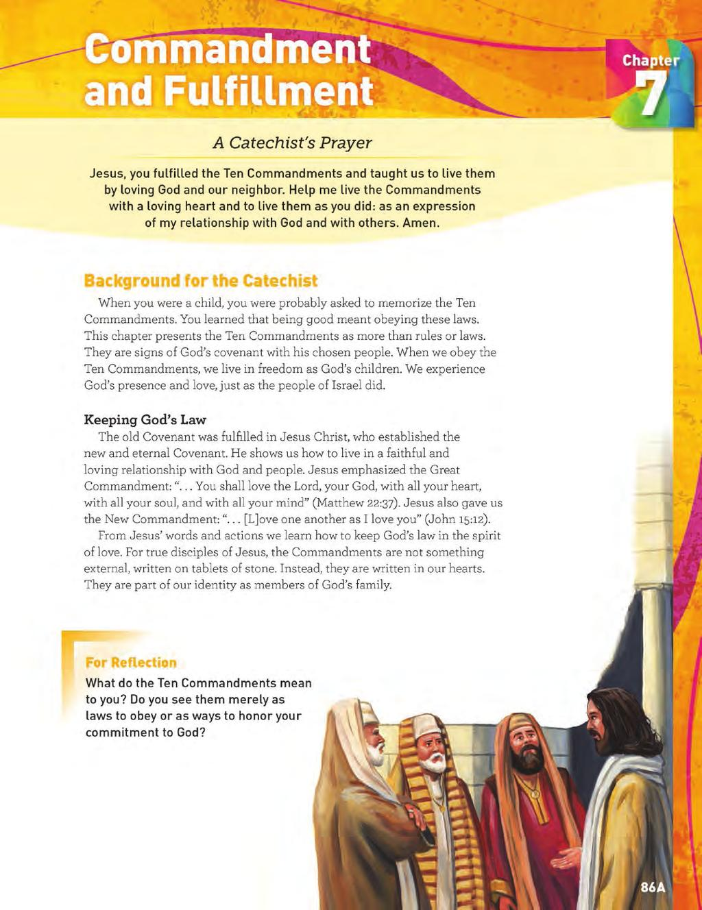 Grade 6 Catechist Guide Background Page CATECHIST BACKGROUND The Catechist Background page provides background