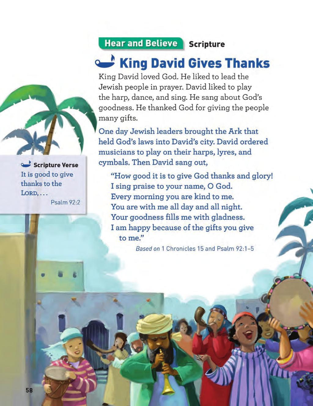 Grade 2 Hear and Believe Page DOCTRINE PAGES The next two pages consist of doctrine, Scripture, liturgical texts, saints biographies, and inspirational stories.