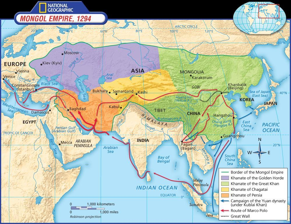 China Reunified (cont.) Kublai Khan, the grandson of Genghis Khan, conquered the Song rulers and established the Yuan dynasty in China.